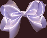 Large Orchid Satin Bow