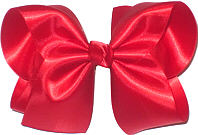 Large Red Satin Bow