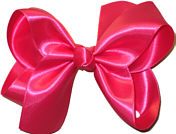 Large Shocking Pink Satin Bow