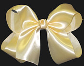 Large Wheat Satin Bow
