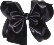 MEGA Black Satin Bow