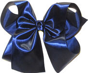 MEGA Light Navy Satin Bow