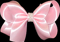 Light Pink Medium Satin with Center Pearl Band