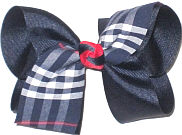 Large Red Plaid Bow