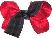 Medium Red Plaid Bow