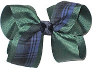 Large Evergreen Plaid Bow