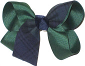 Medium Evergreen Plaid Bow