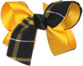 Medium Yellow Gold Plaid Bow