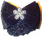 Black Velvet with Flower Rhinestone Pin Snood