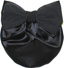 Black Satin Snood