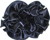 Navy Satin Double Rosette