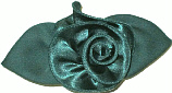 Medium Evergreen Satin Rosette Bow
