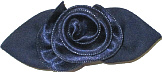 Medium Navy Satin Rosette Bow