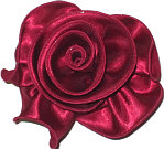 Large Currant Satin Rosette Bow