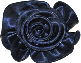 Large Navy Satin Rosette Bow