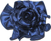 Large Black Satin Rosette