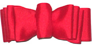 Large Red Grosgrain Spectator Style Bow